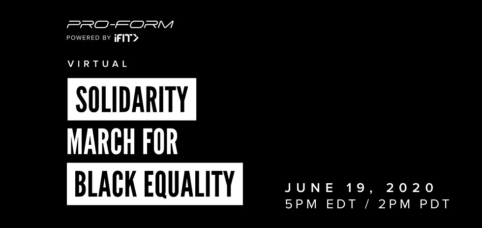 iFit Virtual Solidarity March For Black Equality Led By iFit Trainer Gideon Akande | ProForm Blog