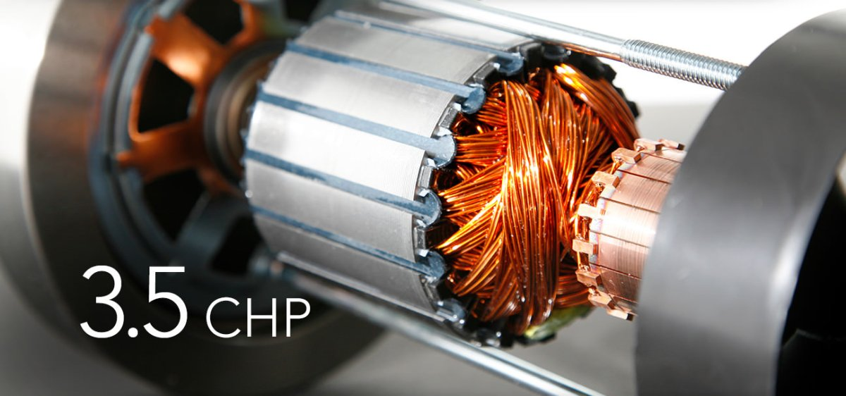 close up image of 3.5 CHP motor