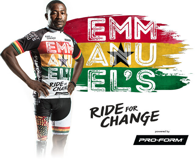 Emmanuel's Ride for Change, powered by Pro-Form